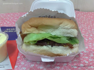 Cheese Giant Burger salada bacon com maionese a parte - Making Burgers (Santa Cruz)