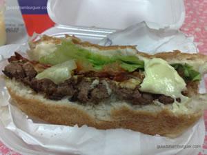 Cheese Giant Burger salada bacon com maionese a parte - Making Burgers (Santa Cruz)