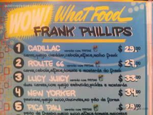Cardápio - Frank Phillips
