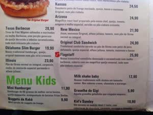 Cardápio - Original Burger