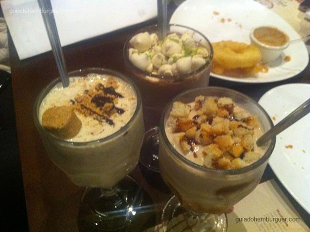 Milk Shake de Paçoca, Tiramissú e Chocolate Belga com Limão