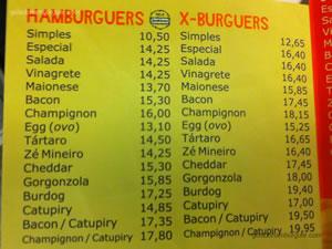 Cardápio de hambúrgueres - Burdog