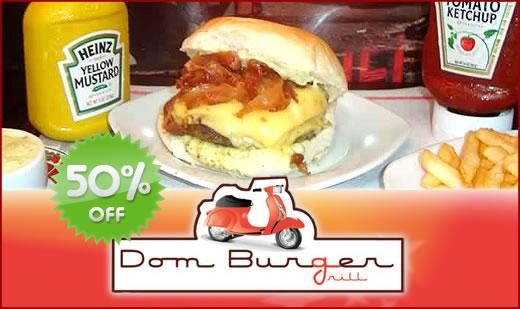 Cupom de desconto para o Dom Burger Grill