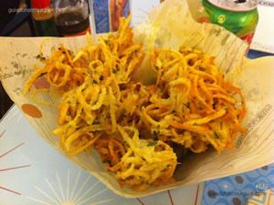 Bolinho de batata crespo - Lanchonete da Cidade