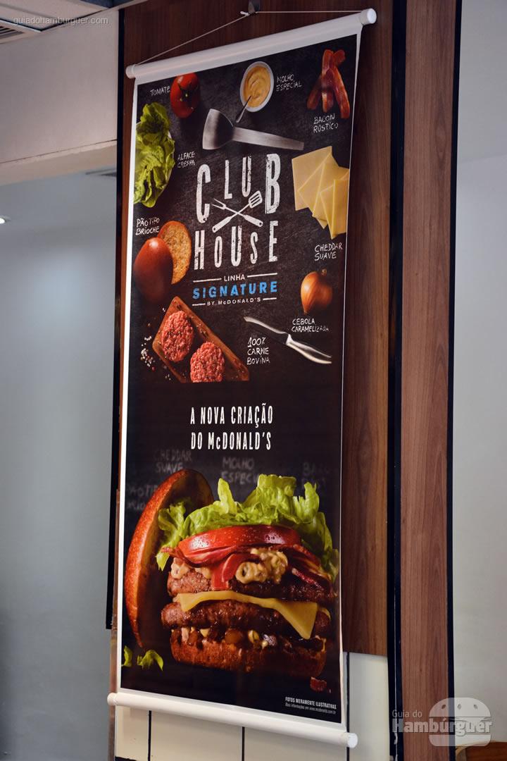 O banner que não podia ser fotografado - Club House McDonald's