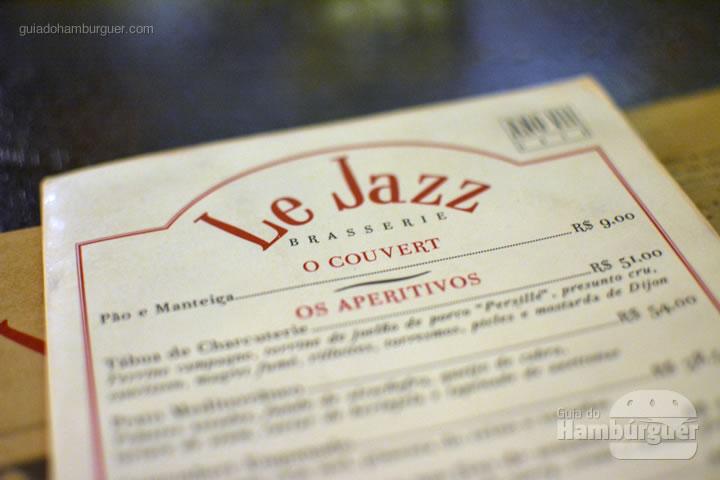 Cardápio - Le Jazz Brasserie
