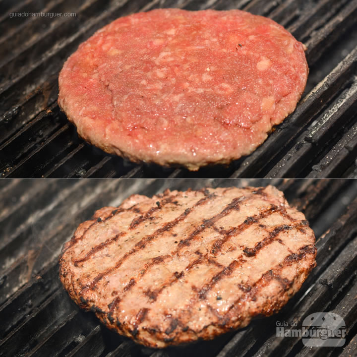 Hambúrguer fresco e grelhado com 15cm e 300g de carne Angus - Aniversário do Paulista Burger