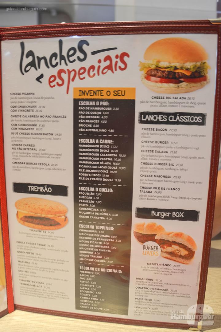 Cardápio - Pibus Hamburger Itaim