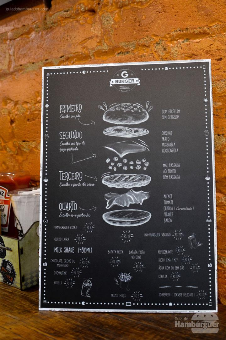 Cardápio - G Burger