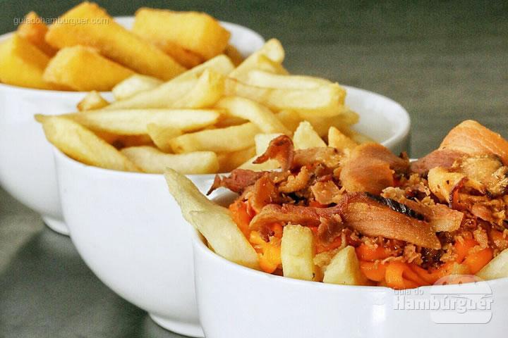 Fritas cheddar e bacon exclusivas do Rodízio Premium - Rodízio de hambúrguer na Hamburgueria Artesanal