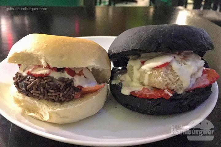 Hambúrguer de brigadeiro e de beijinho - Rodízio de hambúrguer na Hamburgueria Artesanal