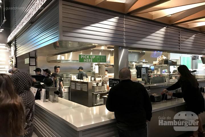 Ponto de retirada dos burgers - Shake Shack