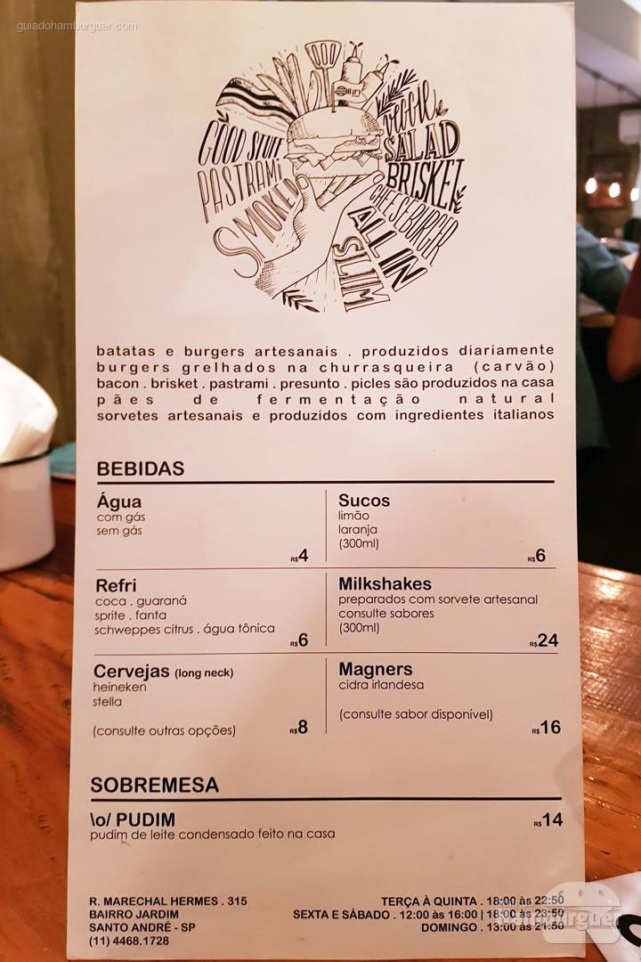 Cardápio - All In Burger