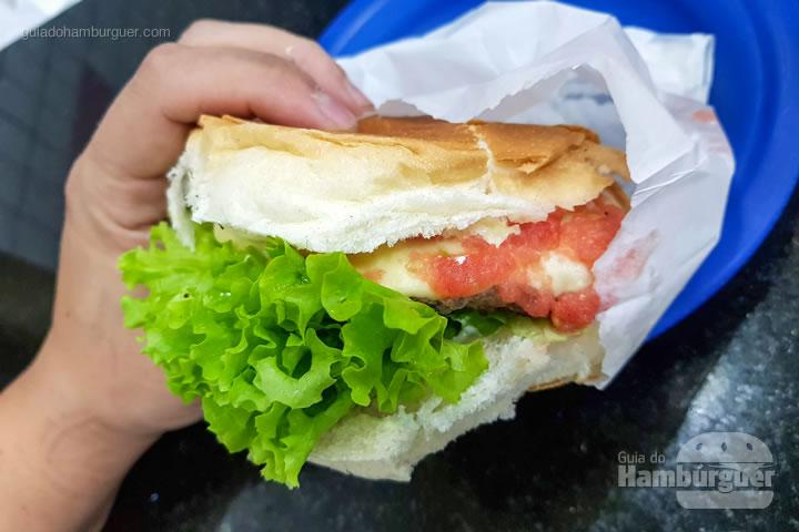 Cheese salada  - Hambúrguer do Seu Oswaldo