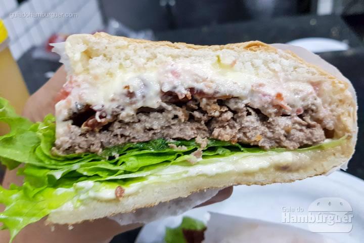 Ponto do cheesebacon salada - Hambúrguer do Seu Oswaldo