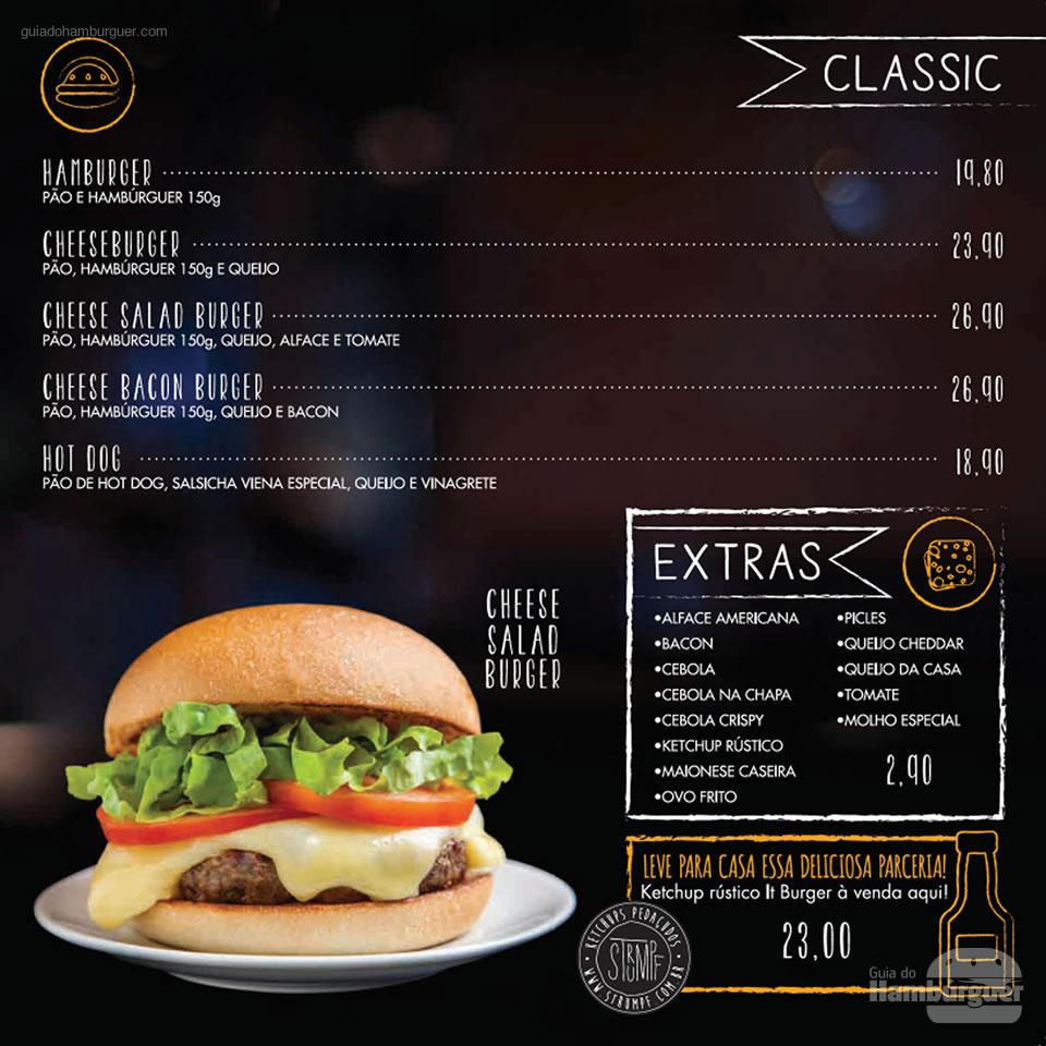 Cardápio  - It Burger Tatuapé
