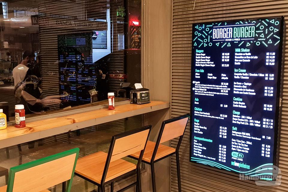 Decoração - Borger Burger - Pinheiros - SP