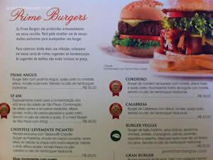 Cardápio - General Prime Burger