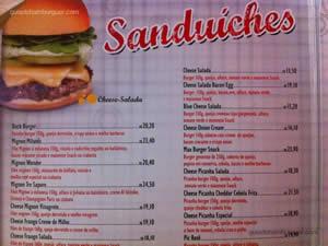 Cardápio - Snack Point Burger
