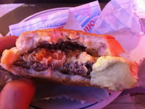Cheese Onion Cream com hambúrguer de 110g, coberto com creme de queijos, bacon crocante e crispy onion - Snack Point Burger