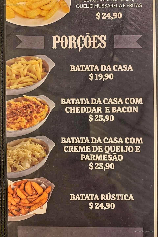 Cardápio - Iron Burguer - Tatuapé - São Paulo