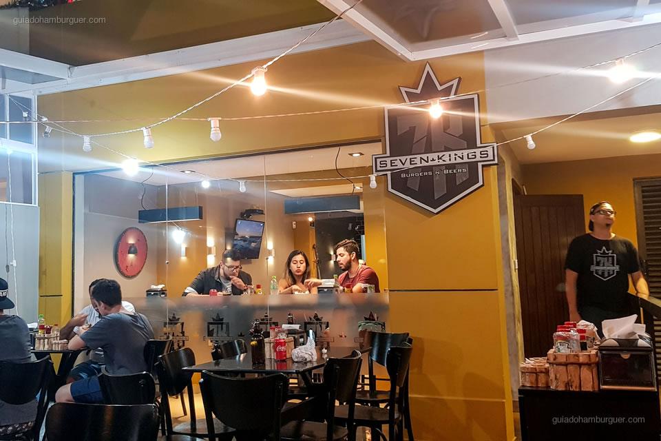 Salão - Seven Kings Burger - Santos - São Paulo