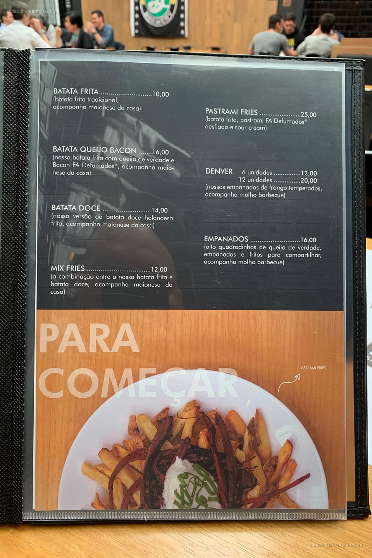 Cardápio - Burger Shop - Vila Olímpia - São Paulo