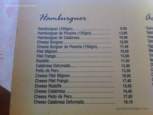 Cardápio - Blooming Burger