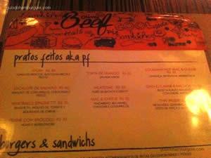 Cardápio - 210 Diner