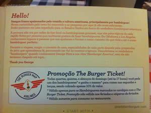 Cardápio - The Burger Map